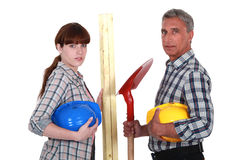 A team of tradespeople Royalty Free Stock Images