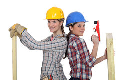 A team of tradeswomen Stock Photography