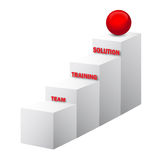 Team, Training, Solution Stairs, 3d Vector Royalty Free Stock Photo