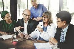 Team Treatment Plan Discussion医生概念 图库摄影