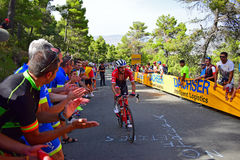 Team Trek Bike Racer La Vuelta España Cycle Race royalty free stock photography