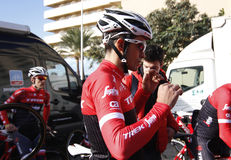 Team Trek Segafredo with Alberto Contador before training Stock Images