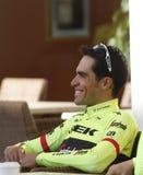 Team Trek Segafredo mit Alberto Contador vor der Ausbildung Stockfotografie