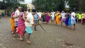 Team Tribal dans av Indien arkivbilder