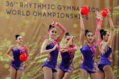 Team Turkey Rhythmic Gymnastics stock photography