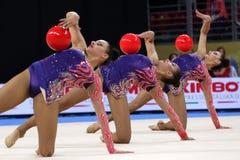Team Turkey Rhythmic Gymnastics royalty free stock photography