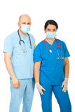 Team of two hospital  doctors Stock Image