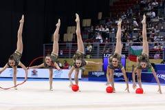 Team Ukraine Rhythmic Gymnastics royalty free stock images