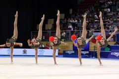 Team Ukraine Rhythmic Gymnastics royalty free stock photo