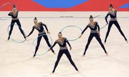Team Ukraine Rhythmic Gymnastics stock photo
