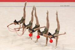 Team Ukraine Rhythmic Gymnastics stock image