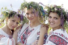 Team Ukrainian girl Stock Images