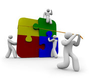 Team un il puzzle Fotografia Stock