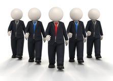 Team und Führer des Geschäfts 3d in der Uniform Lizenzfreies Stockbild