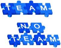 Team und kein Team Stockbild