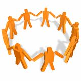 Team union. In circle hand in hand Royalty Free Stock Photo