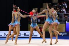 Team United States of America Rhythmic Gymnastics stock image