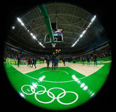 Team United States prepares for group A basketball match between Team USA and Australia of the Rio 2016 Olympic Games Stock Images