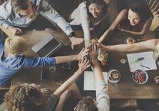 Team Unity Friends Meeting Partnership begrepp fotografering för bildbyråer