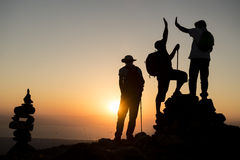 Team unity & summit success. Team unity & summit success.climb to success Royalty Free Stock Photography