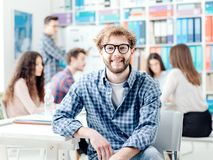 Startups, students and new business royalty free stock image
