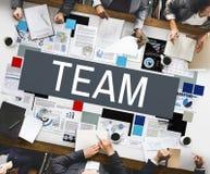 Team Up Alliance Collaboration Corporate begrepp royaltyfri foto