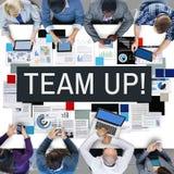 Team Up Alliance Collaboration Corporate begrepp royaltyfri fotografi