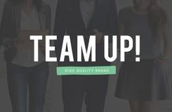 Team Up Unity Connection Cooperation partnerskapsamarbete C royaltyfria foton