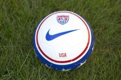 Team USA official soccer ball on grass Stock Image