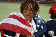 Team USA Player Draped in the USA Flag Stock Image