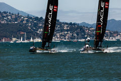 Team USA racing in America's Cup World Series Royalty Free Stock Photography