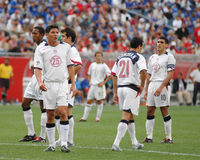 Team USA Soccer 2004. Members of the United States Soccer team featuring Landon Donovan in action against El Salvador. September 4, 2004 Image taken from a color stock image