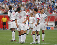 Team USA Soccer 2004. Members of the United States Soccer team featuring Landon Donovan in action against El Salvador. September 4, 2004  Image taken from a Royalty Free Stock Photos