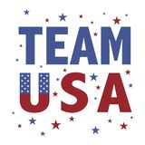 Team USA royalty free stock image
