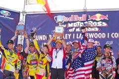 Team USAMotocross von Nationen Stockfotos