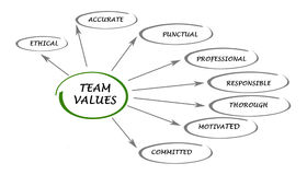 Team values and norms Royalty Free Stock Photos