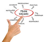 Team values and norms Royalty Free Stock Photo