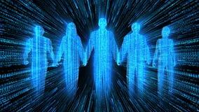 Team van Animatie van het Mensen de Digitale Aantal arbeidskrachten vector illustratie