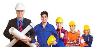 Team van architect en bouw stock afbeeldingen