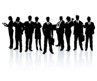 Team van bedrijfsmensen stock illustratie