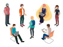 Team van creatieve jongeren royalty-vrije illustratie