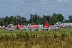 Team van de Orlik het aerobatic vertoning Royalty-vrije Stock Afbeelding
