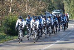 Team 014 van de Saxobank Royalty-vrije Stock Foto
