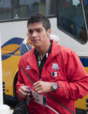 Team van de Voetbal van Raul Rodrigues Mexico het Olympische Royalty-vrije Stock Foto's