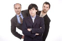 Team van drie bedrijfs mannelijke mensen Stock Foto