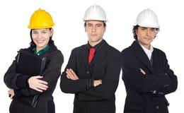 Team van ingenieurs Royalty-vrije Stock Foto's