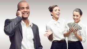 Team van jonge succesvolle bedrijfsmensen Royalty-vrije Stock Foto's