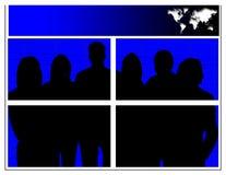 Team van Kleuren vector illustratie