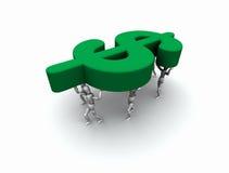 Team van Mensen die het Symbool van de Dollar van ?$? dragen Stock Afbeeldingen