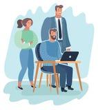Team van ontwikkelaars die samenwerken royalty-vrije illustratie